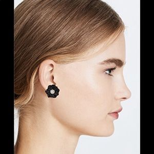 Lele Sadoughi Small Gardenia Earrings BNWT